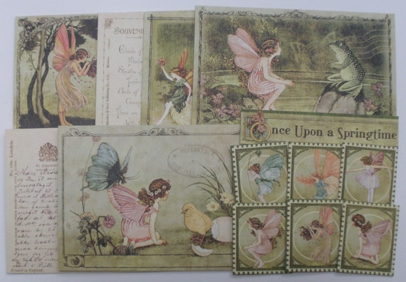 ONCE UPON A SPRiNGTiME-  JOURNAL KiT - Titles - Journaling Notes - Quotes - Picture Cards CHiPBOARD Embellishment Kit Die Cuts