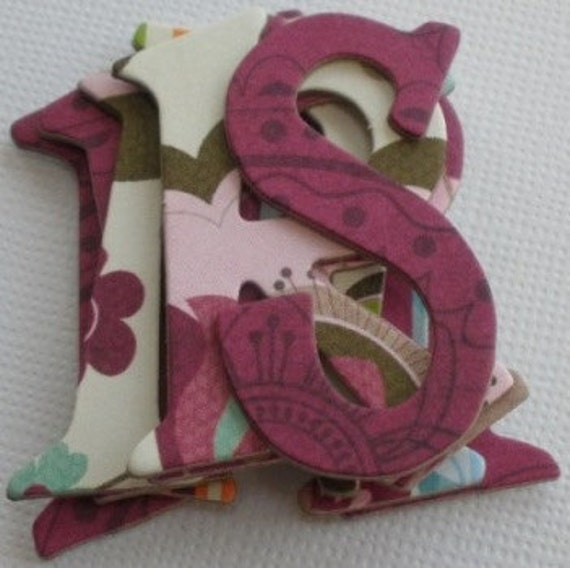 """Sophie Designs -  Bo Bunny Chipboard Alphabets  1.5"""" -  Letters and Die Cuts"""