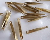 12g about 30 pieces of vintage raw brass connector box bar link with cut gold tone make your own chain 18mm