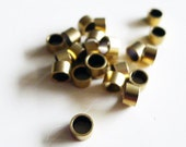 9G about 50 pcs of newly made tiny raw brass round bead in cylinder shape 5x5x3mm spacer bead