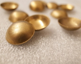 10 pieces of  vintage solid raw brass bowl saucer shape 18mm across for metalwork soldering