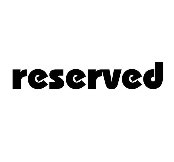 reserved for JENNOAKEY - plated in steel color