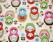1 yard Matryoshka Fabric