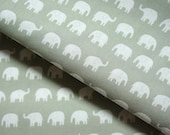 Elephant fabric  Tiny Elephant 50 cm by 53 cm or 19.6 by 21 inches FAT QUARTER  (hb4)