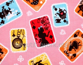 Alice in wonderland Fabric Cards 43 cm by 53 cm 16.9 by 21 inches nc12
