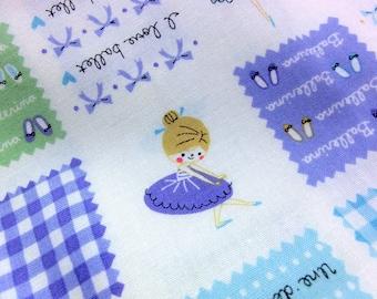 Japanese fabric Ballerina print Half meter nc14