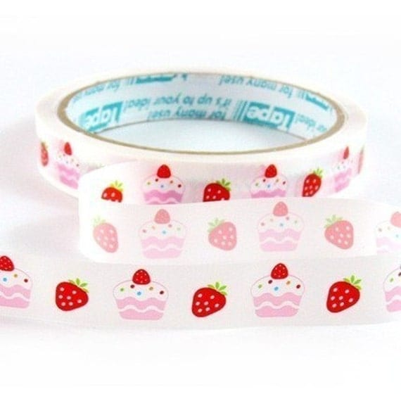 strawberry and short cake deco tape