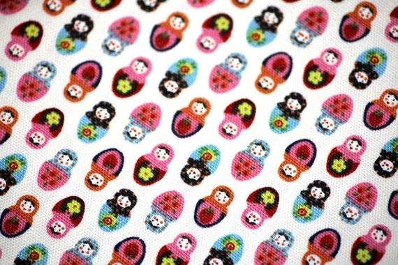 Kawaii Tiny Matryoshka Print HALF YARD