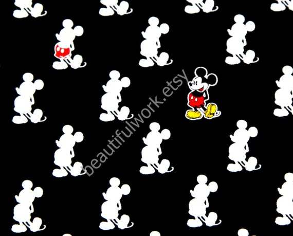 Disney Cartoon Mickey Mouse  Print Japanese fabric set of 2 pieces of Fat Quarter