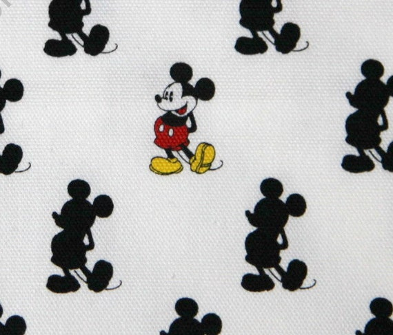 Disney Cartoon Mickey Mouse  Print Japanese fabric 60 cm 54 cm or 23.6 by 21. inches