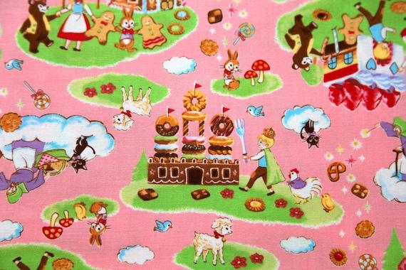 Sweets Land Print Half yard pink