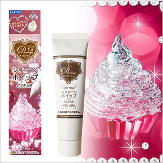 Crystal Clear  Realistic Faux  Whipped Cream Kit for making your own Yummy Deco Sweets and Desserts