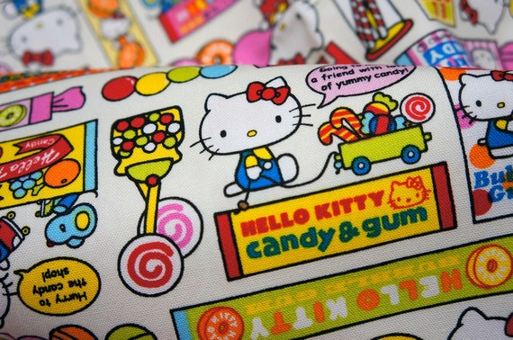 Hello Kitty Fabric Hello kitty and Candy Fat Quarter