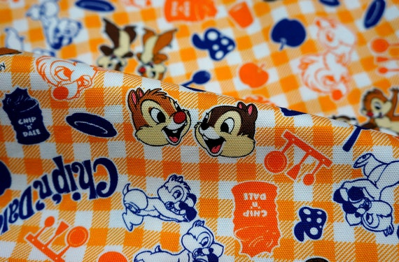 Disney fabric chip and dale 19.6 inch by 21 inch