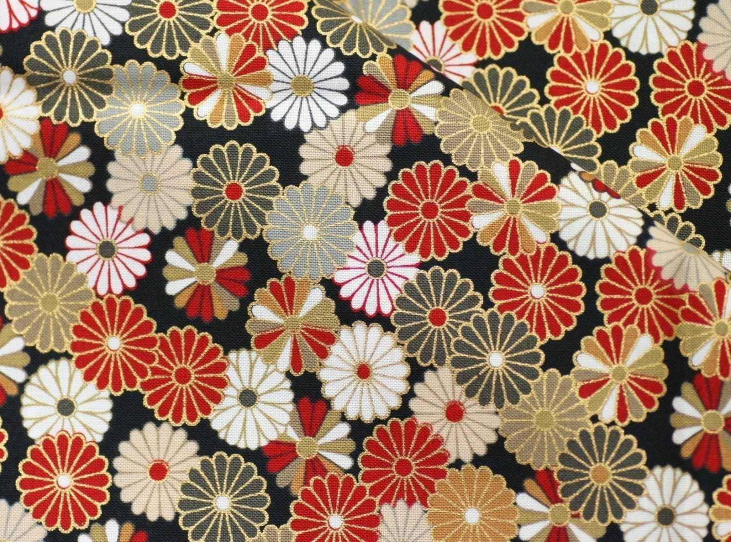 Beautiful Kimono pattern Japanese fabric