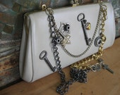 Revamped STEAMPUNK Upcycled Vintage Clutch