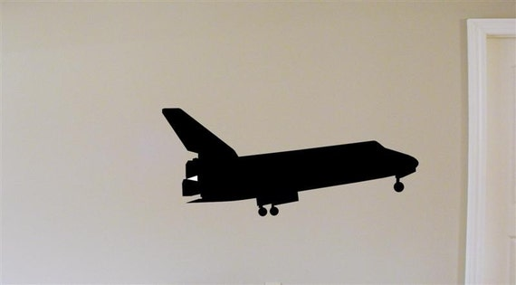 Space Shuttle Silouette Vinyl Wall Graphic Decal by ...