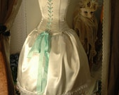 Alice inspired satin wedding gown