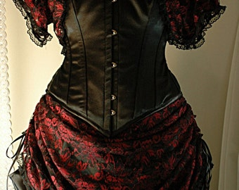 Adrienne - Custom made Victorian inspired gown with lace bolero