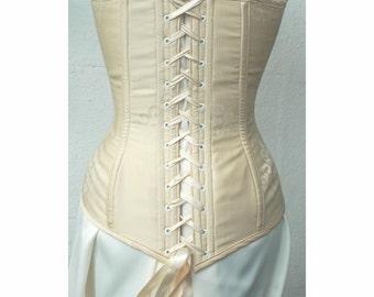 Fully custom longer line victorian style steel boned corset