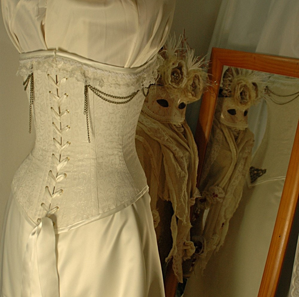 Helena Custom Made Ivory Duchess Satin Wedding Gown With