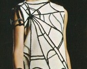 Vintage 1960s Spiderweb Skirt MOD Goth Spider Web Shell Maxi Skirt  Knitting Pattern PDF 6703 Sweater Jumper Spider Web Novelty Pattern
