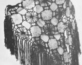 Vintage 1970s Laciest Daisy Shawl in the World Crochet Pattern PDF 7207