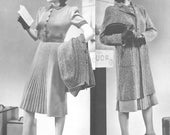 Vintage 1930s Traveler on the Wing Dress and Coat Knitting Pattern PDF 3910