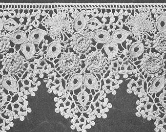 Antique 1916 Butterfly Lace Crochet Trim Pattern PDF 1601