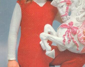 Girls Vintage 1960s Knitted Jumpsuit Pattern PDF 6804