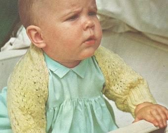 Baby Angel Wings Knitted Shrug Shoulderette Pattern PDF 7009 Infant jumper