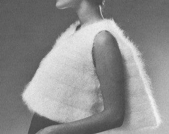 Angora Bolero Vintage 1970s Knitting Pattern PDF 7010