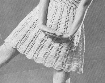 Vintage 1960s Crochet Dolly Dress Pattern PDF 6713