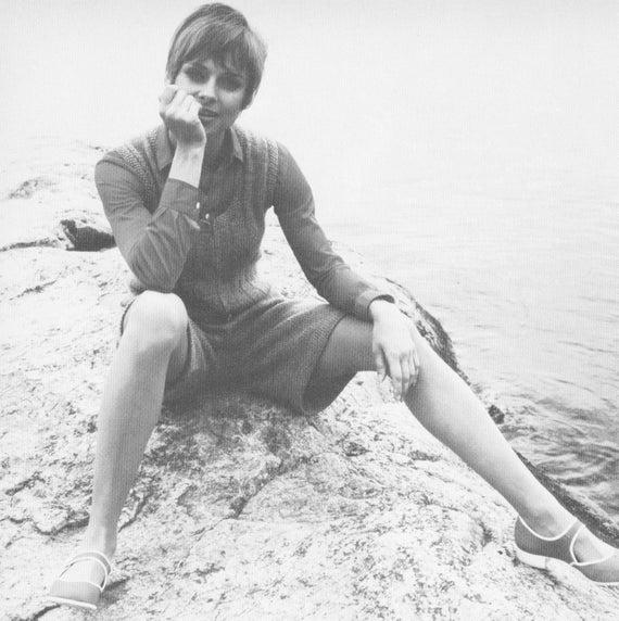 1970s Jumper Pant Dress Romper Knitting Pattern PDF 7212