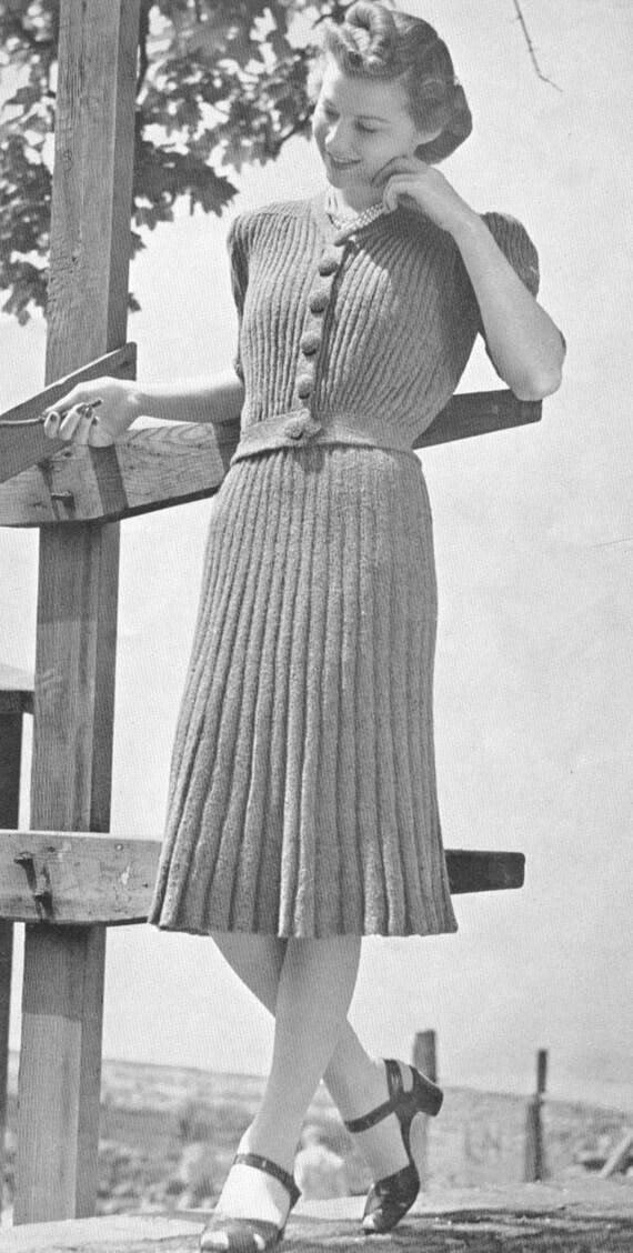 Vintage 1930s Lumber Jacket And Skirt Knitting Pattern Pdf