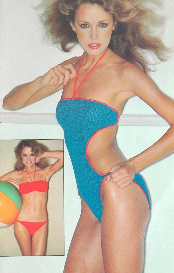 Vintage 1970s Crochet Bikini and Swim Suit Pattern PDF 7902