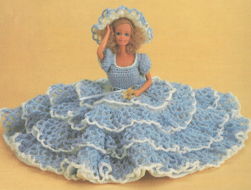 Amigurumi Christmas Tree Pattern Free : Vintage Barbie Lacy Dress and Hat Crochet Pattern PDF 8308