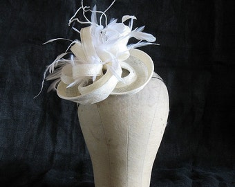 Sinamay twist cocktail hat