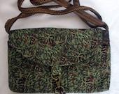 Leafy Batik clutch