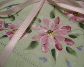 Pink Daisey Hand Painted Vintage Napkins with Shipping Included
