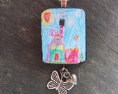 GIFT - Personalized Pendant - Kids Artwork