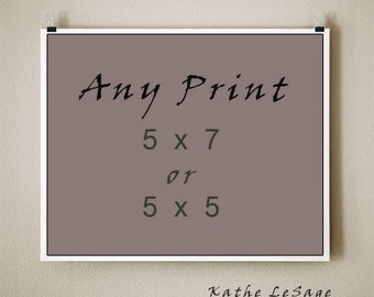 ANY PRINT - 5x7  or  5x5 Signed Fine Art Photograph