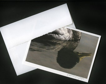 SIGNED ART CARD - Your Choice of Image, 5x7, signed by the artist, deckled envelope, heavy fine art paper, framable