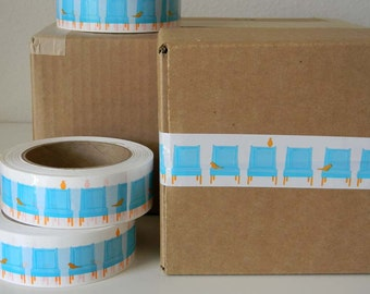 Birdies on Chairs - Fancy Packing or Shipping Tape