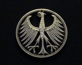 GERMANY - cut coin jewelry - 1951 - w/ Imperial Eagle - SILVER