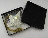 Hand Crafted Porcelain and Gold Lustre Star