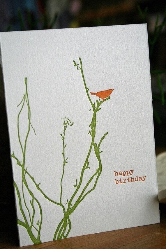 letterpress birthday sample pack