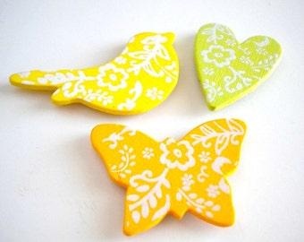 Birds and Butterflies Magnet Set