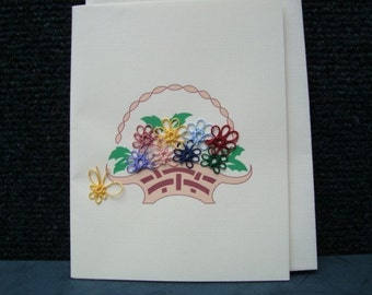 Tatted Basket of Flowers Note Card