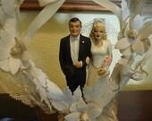 Blond Bombshell Vintage 30's Wedding Cake Topper Hollywood Couple